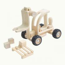 Plan Toys - Chariot élévateur en bois naturel - Dès 3 ans
