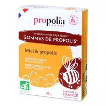 Propolia - Gommes de Propolis Bio - Miel et Propolis Nature x 45g