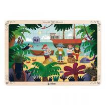 Vilac - Grand puzzle les pirates 42 pièces en bois - Dès 4 ans
