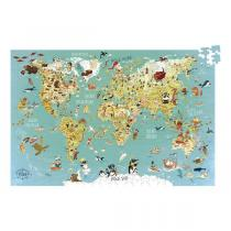 Vilac - Puzzle Carte du monde fantastique 500 pièces - De 8 à 12 ans