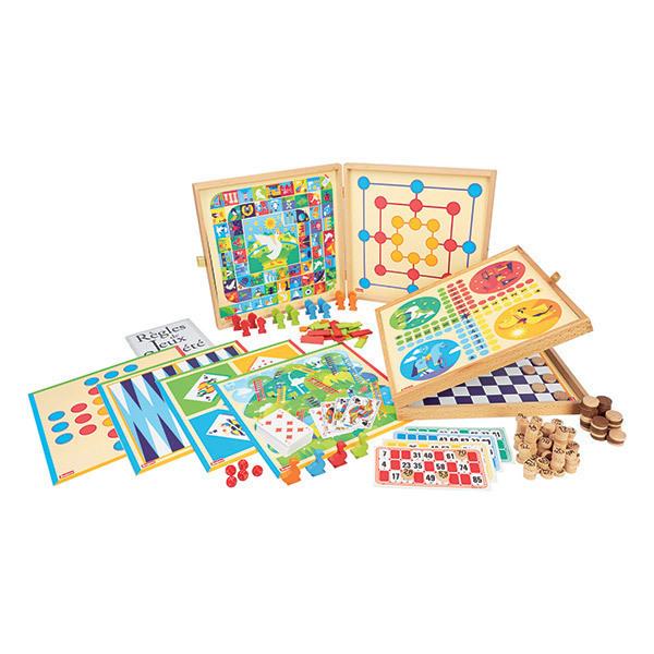Jeujura - Coffret de Jeux Classiques  150 règles - Dès 3 ans