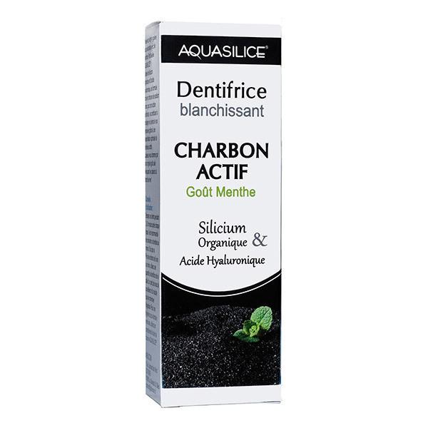 Aquasilice - Dentifrice Blanchissant Charbon Actif Goût Menthe - Tube de 50mL