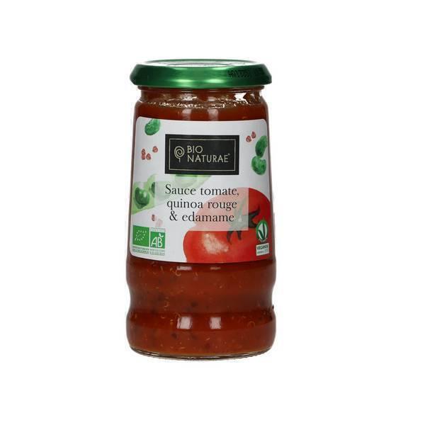 Bio Naturae - Sauce tomates Edamame et Quinoa rouge 345g