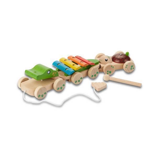 EverEarth - Crocodile musical à tirer - Dès 18 mois