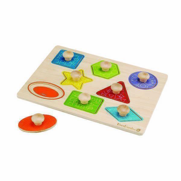 EverEarth - Puzzle à formes avec poignées - Dès 18 mois