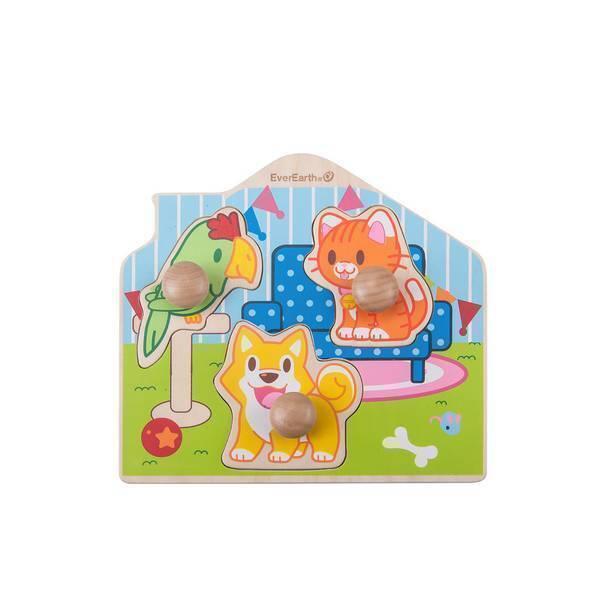 EverEarth - Puzzle Animaux domestiques - Dès 12 mois
