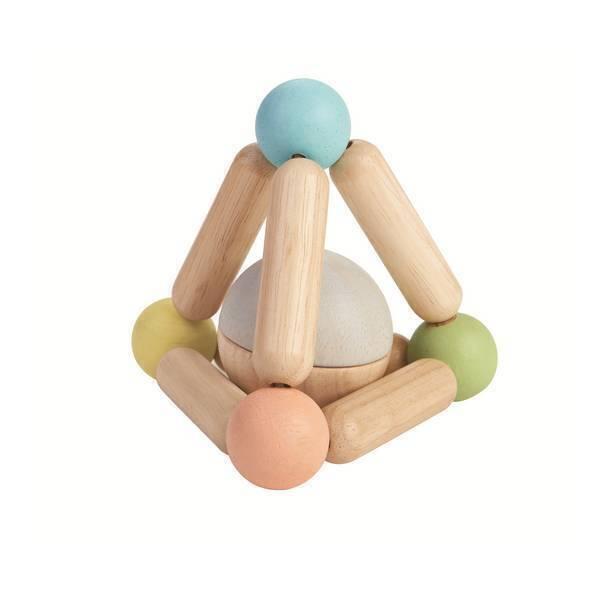 Plan Toys - Hochet triangle pastel - Des 6 mois