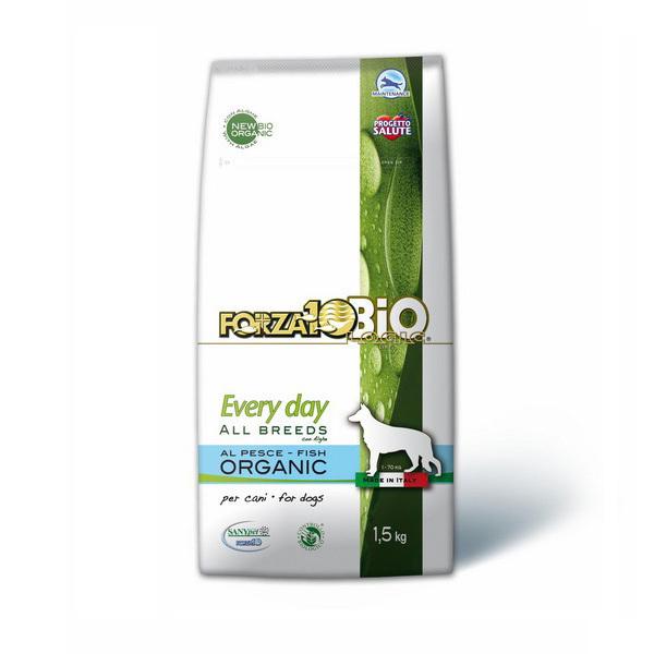 Forza 10 Bio - Lot de 2 x Croquettes bio chien Poisson et Algues 1,5kg