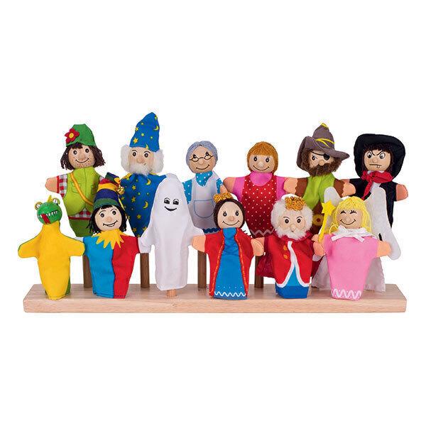 Goki - 12 marionnettes à doigt - Dès 3 ans