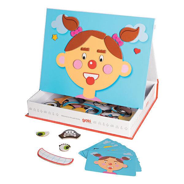 Goki - Jeu magnétique Drôles de têtes fille - Dès 3 ans