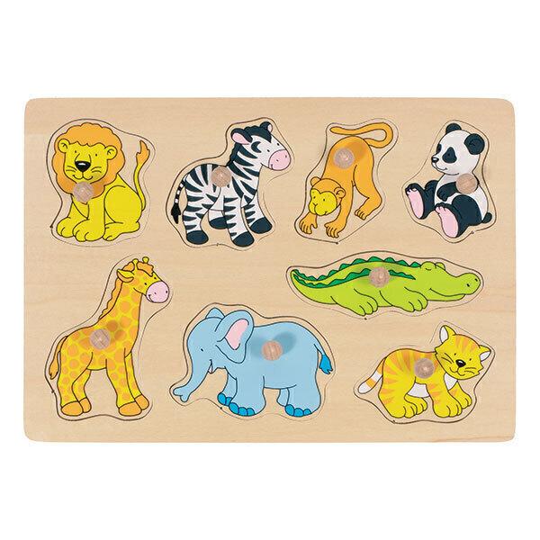 Goki - Puzzle Animaux du zoo - Dès 1 an