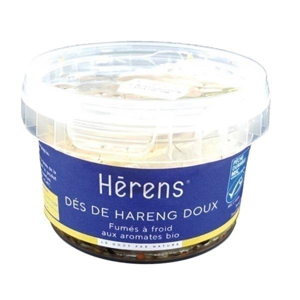 Herens - Dés de hareng doux fumé huile et aromates 180g