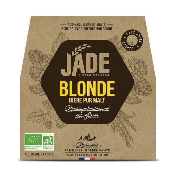 Jade - Bière blonde bio Jade 6x25cl