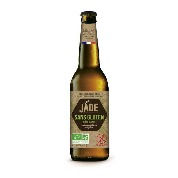 Jade - Bière blonde bio Jade Sans gluten 33cl