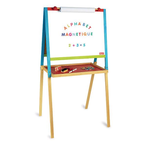 Jeujura - Tableau multifonctions en bois avec fonction dessin - Dès 3 ans