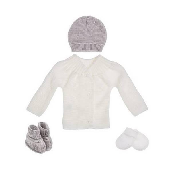 La Manufacture de Layette - Trousseau de naissance - Blanc/gris - 0-1 mois