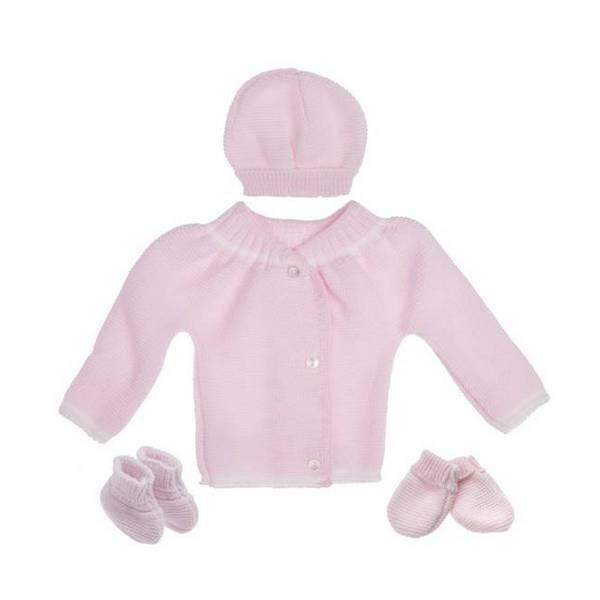La Manufacture de Layette - Trousseau de naissance - Rose layette 0-1 mois