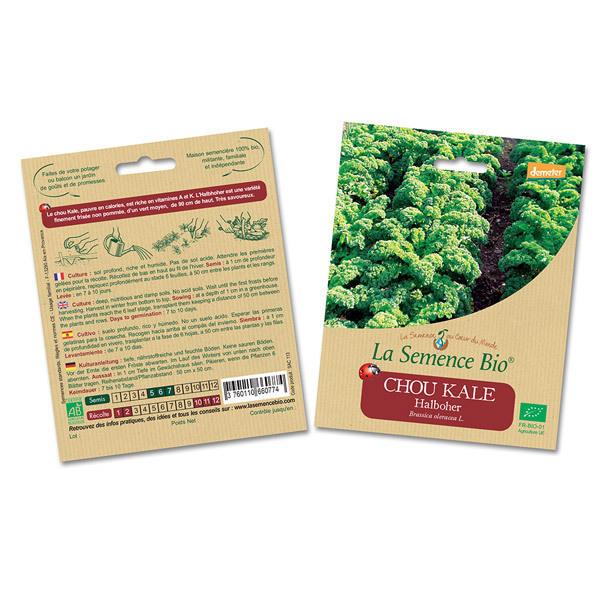 La Semence Bio - Lot de 2 sachets de Graines de Chou Kale Halboher