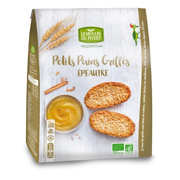 Le Moulin du Pivert - Petits Pains Grillés Grand Épeautre Bio 225 g