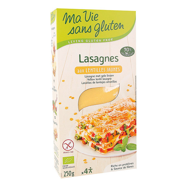 Ma Vie Sans Gluten - Lasagnes de lentilles jaunes 250g