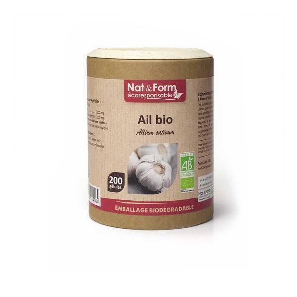 Nat & Form - Ail Bulbe bio x 200 gélules