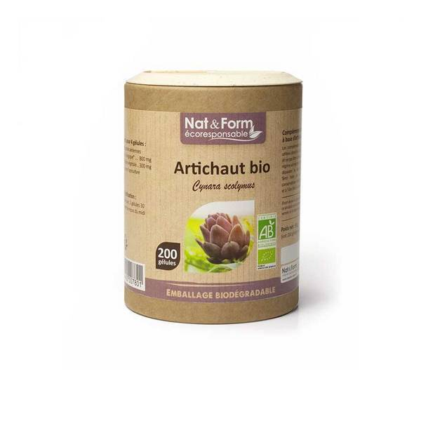 Nat & Form - Artichaut bio x 200 gélules