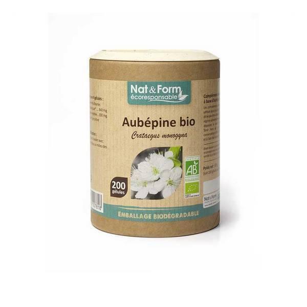 Nat & Form - Aubépine bio x 200 gélules