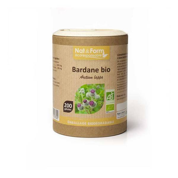Nat & Form - Bardane racine bio x 200 gélules