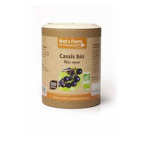 Nat & Form - Cassis bio x 200 gélules