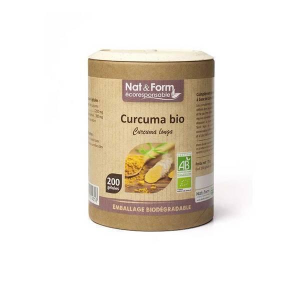 Nat & Form - Curcuma bio x 200 gélules