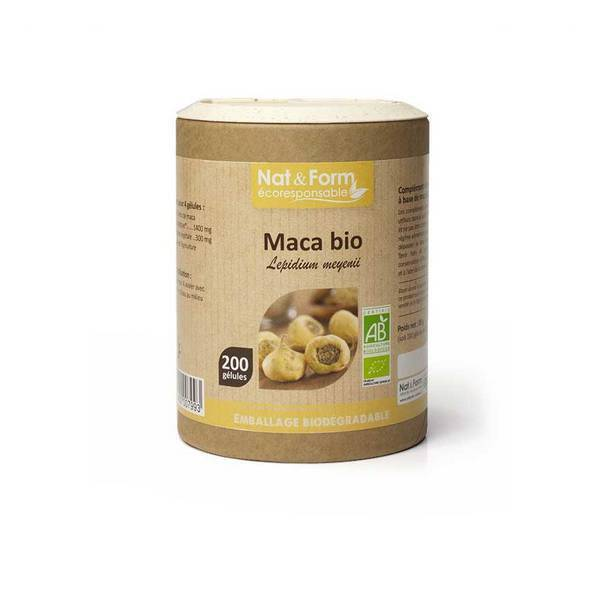 Nat & Form - Maca du Pérou bio x 200 gélules