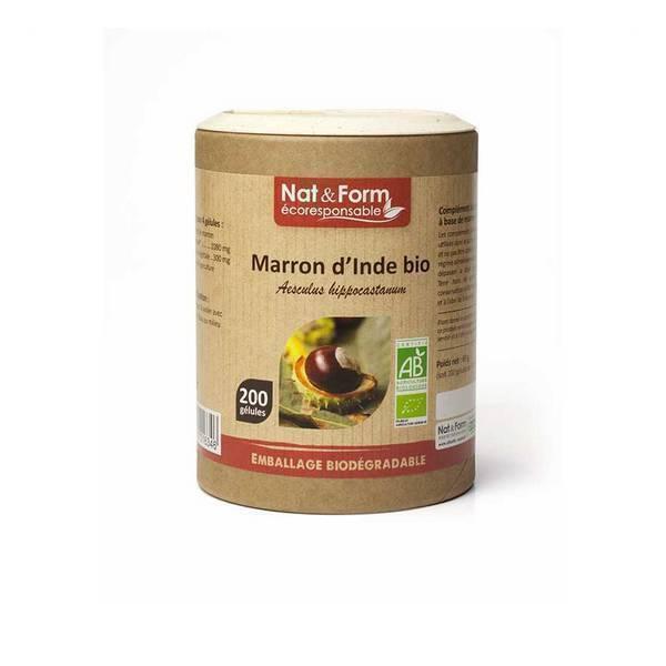Nat & Form - Marron d'Inde bio x 200 gélules