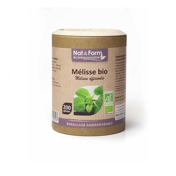 Nat & Form - Mélisse bio x 200 gélules