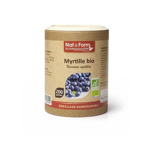 Nat & Form - Myrtille bio x 200 gélules