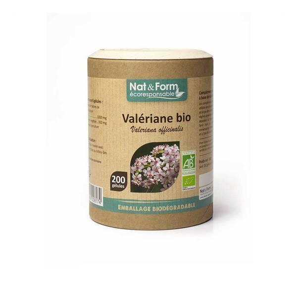 Nat & Form - Valériane bio x 200 gélules