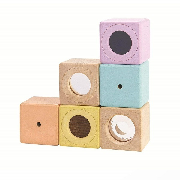 Blocs MoisPlan 12 Sensoriels Dès Toys Pastel QrdohtsCBx