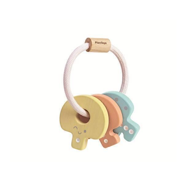 Plan Toys - Hochet clés pastel - Dès 4 mois