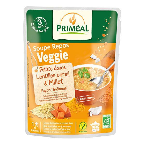 Priméal - Soupe repas millet patate douce lentilles corail 250ml