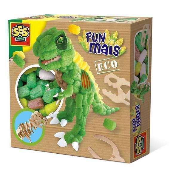 SES Creative - Funmais Dinosaure et squelette en bois - Dès 3 ans