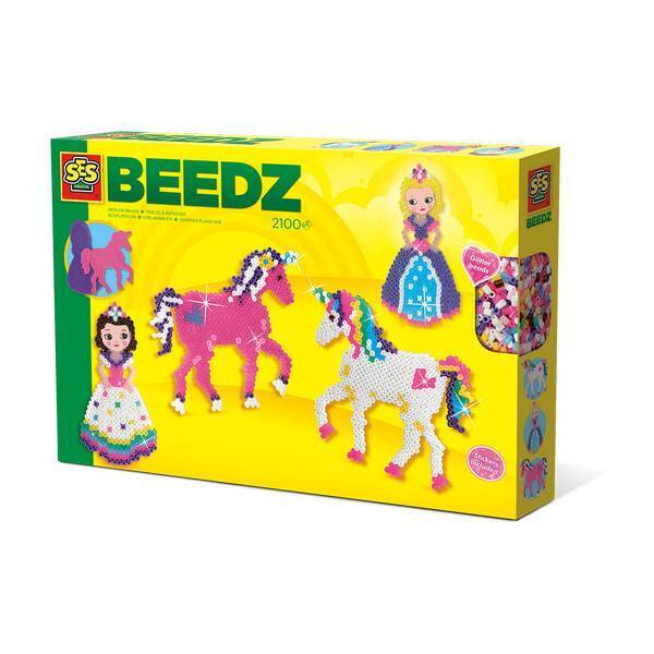 SES Creative - Kit perles à repasser Licornes Princesses - Dès 5 ans