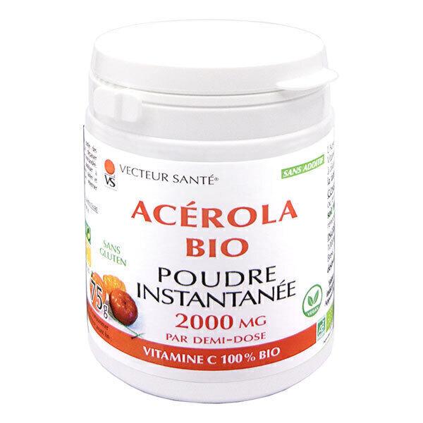 Vecteur Santé - Acérola Bio en poudre pour boisson instantanée - Pot 75g