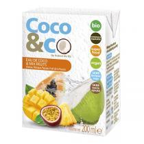 Autour du Riz - Eau de coco et cocktail de fruits exotiques - 200 mL