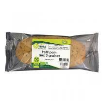BioRevola - Petit Pain aux 3 Graines bio et sans Gluten 150g