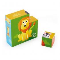 Hape - Puzzle cubes animaux de la jungle - Dès 24 mois