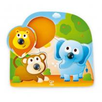 Hape - Puzzle gros boutons animaux de la jungle - Dès 12 mois