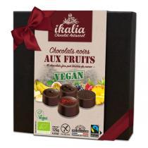 Ikalia - Coffret de chocolat noir aux fruits 125g