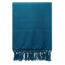 Karawan - Fouta Dhoti en coton bio couleur vetiver 100cm x 50cm