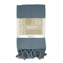 Karawan - Fouta Dhoti en coton bio couleur sauge 100cm x 200cm