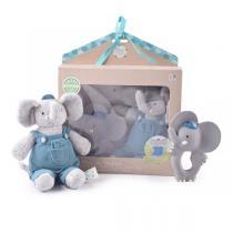 Meiya & Alvin - Coffret peluche & anneau de dentition Alvin l'éléphant