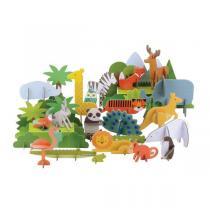 Petitcollage - Pop-Out Animaux du monde 3D - Dès 3 ans